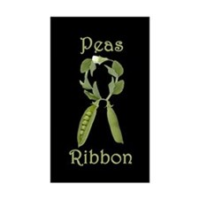 SUPPORT PEAS RIBBON Rectangle Decal