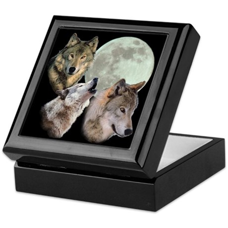 3 Wolf Moon Keepsake Box