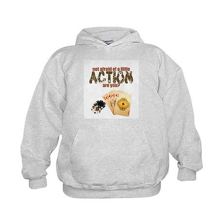 """""""Afraid of Action"""" Kids Hoodie"""