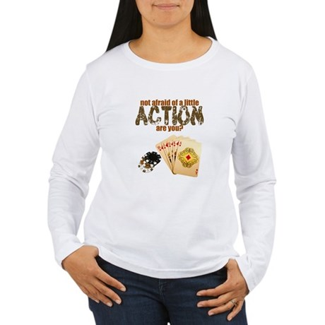 """Afraid of Action"" Women's Long Sleeve T-Shirt"