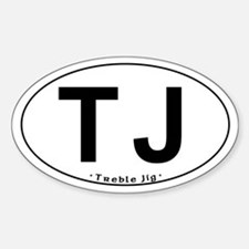 TJ Oval - Oval Decal