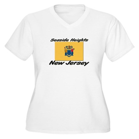 Seaside Heights New Jersey Women's Plus Size V-Nec