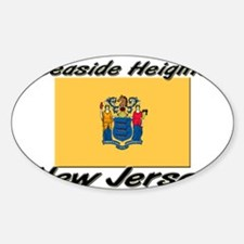 Seaside Heights New Jersey Oval Decal