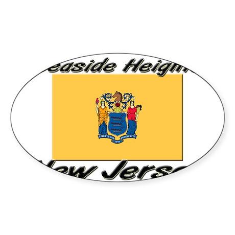 Seaside Heights New Jersey Oval Sticker
