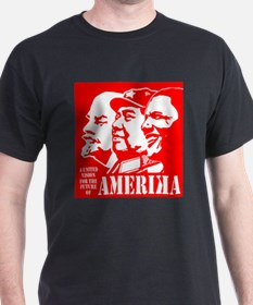 Lenin-Mao-Obama vision for amerika RED T-Shirt