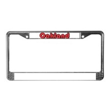 Oakland, California License Plate Frame