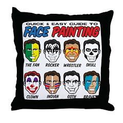 Face Painting Throw Pillow