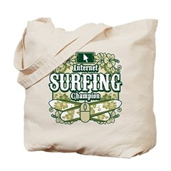 Internet Surfing Champion Tote Bag