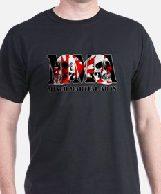 MMA Japan Flag & Skulls T-Shirt