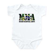 MMA Brazil Flag & Skulls Infant Bodysuit