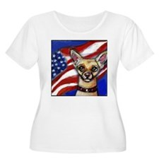 Chihuahua American Flag T-Shirt