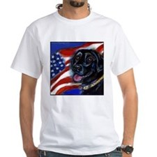 Black Labrador American Flag Shirt