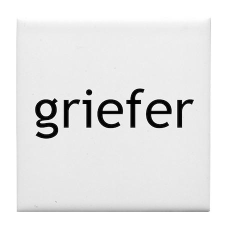 Griefer Item Line Tile Coaster
