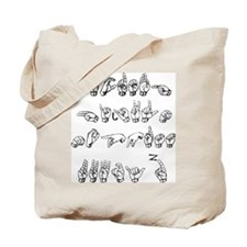 The ASL Alphabet Tote Bag