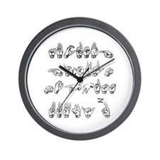 The ASL Alphabet Wall Clock