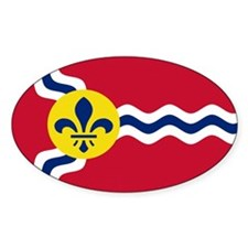 St. Louis Flag Oval Decal