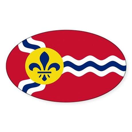 St. Louis Flag Oval Sticker