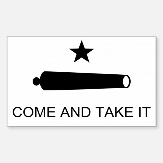 Come and Take it Battle Flag Rectangle Decal