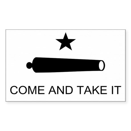Come and Take it Battle Flag Rectangle Sticker