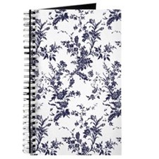 Navy and White Toile Journal