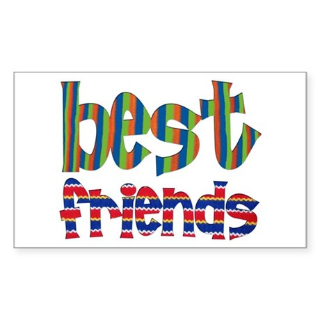 Best Friends - Rectangle Sticker