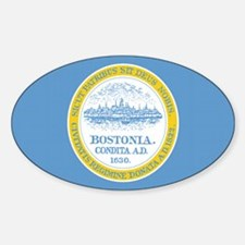 Boston City Flag Oval Decal