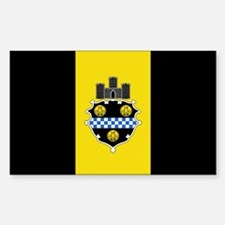 Pittsburgh City Flag Rectangle Decal