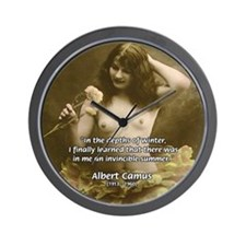 Literature Sex and Camus Wall Clock