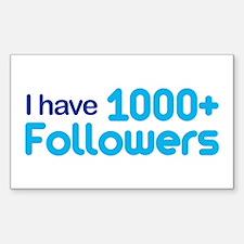 1000+ Followers Rectangle Sticker 10 pk)