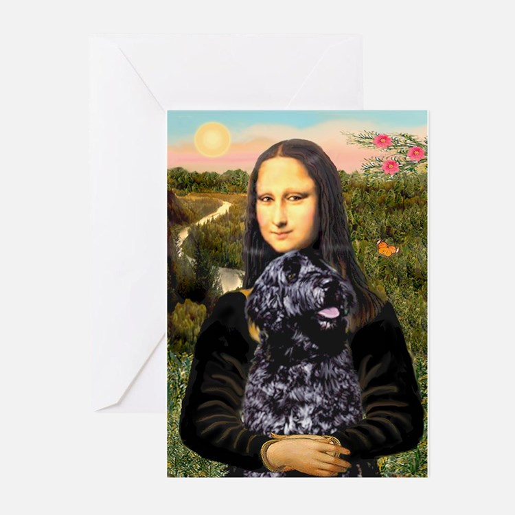 Mona Lisa's PWD (5) Greeting Cards (Pk of 10)