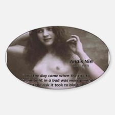 Erotic Stories: Anais Nin Oval Decal