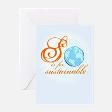 S is for Sustainable | Greeting Card