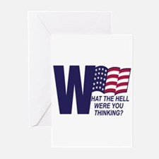 What The Hell Bush Greeting Cards (Pk of 10)