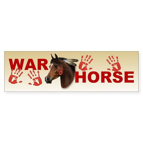 War Horse Bumper Sticker