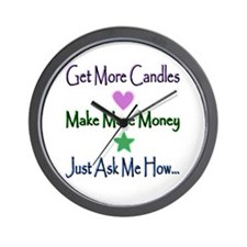 Candle Lines Wall Clock