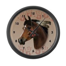 War Horse Large Wall Clock