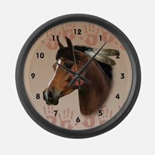 War Horse Large Wall Clock