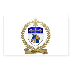 VOUTOUR Family Crest Rectangle Sticker 10 pk)