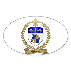 VOUTOUR Family Crest Oval Decal