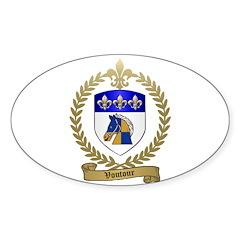 VOUTOUR Family Crest Oval Sticker (10 pk)