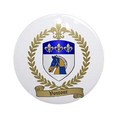 VOUTOUR Family Crest Ornament (Round)