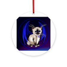 Dragon Kitty Ornament (Round)
