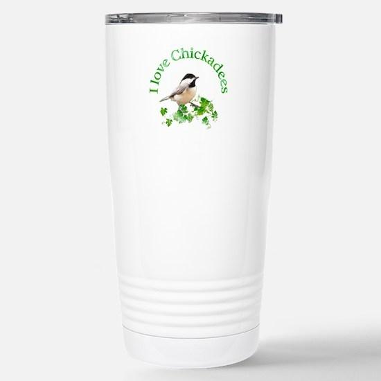 Chickadee Stainless Steel Travel Mug