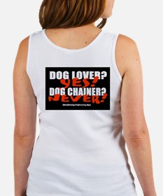 Dog Lover? Yes. Dog Chainer? Women's Tank Top