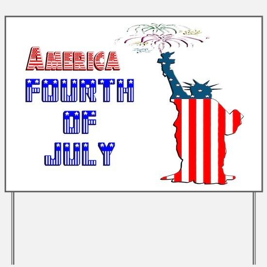 Liberty Fourth of July Yard Sign