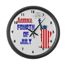 Liberty Fourth of July Large Wall Clock