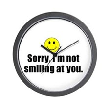 I'm not smiling at you Wall Clock