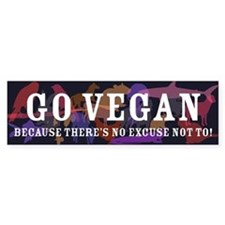 GO VEGAN Sticker - dark colors (Bumper)