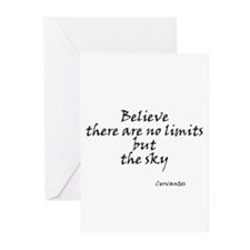 Believe there are no limits b Greeting Cards (Pk o