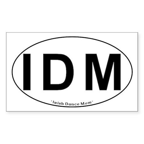 IDM Oval - Rectangle Sticker
